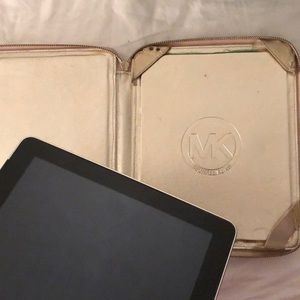 Michael Kors Accessories - Metallic gold leather Michael Kors iPad case